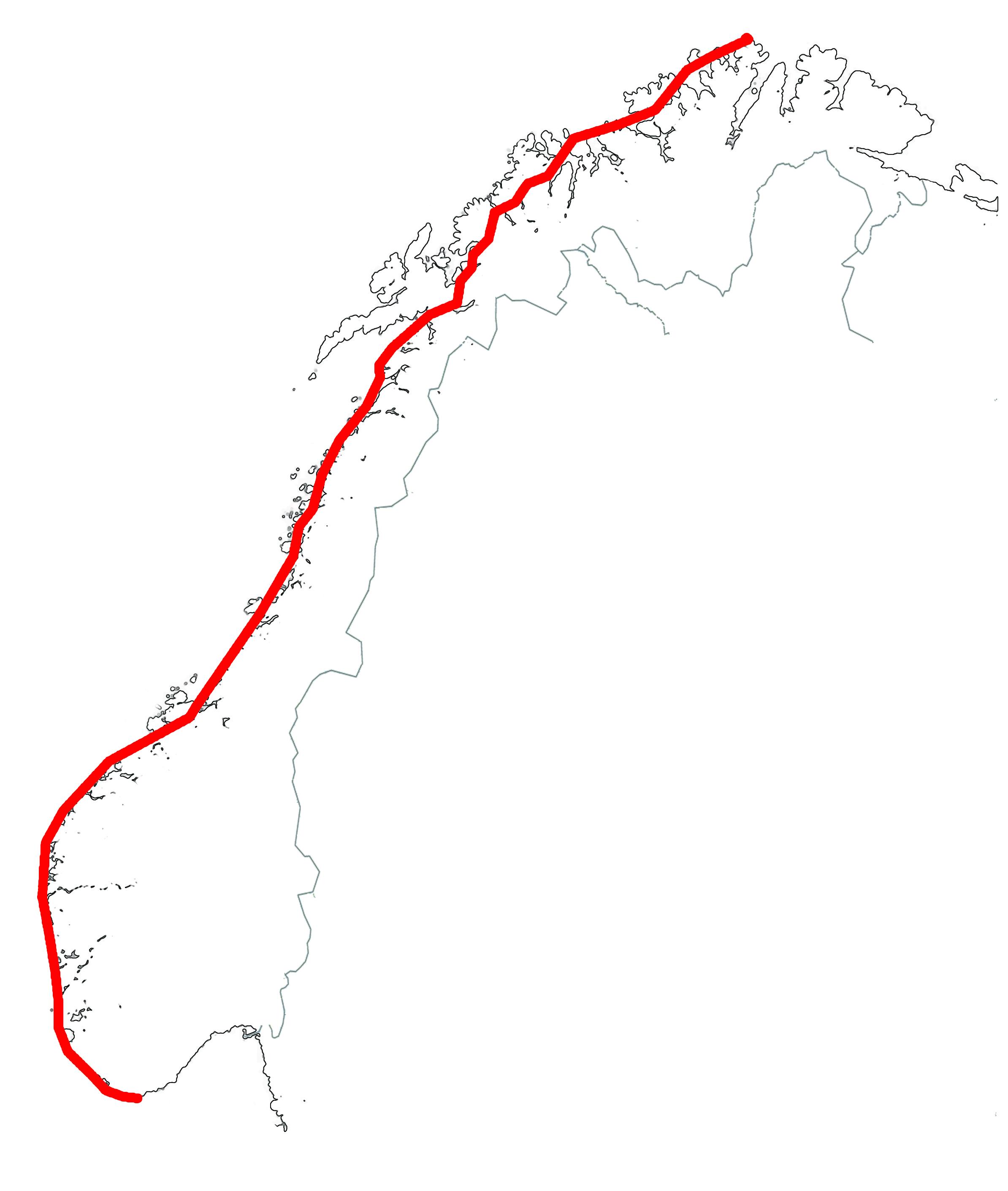 norskekysten kart En episk reise | Rodegned / Nordkapp – Lindesnes 2011 norskekysten kart